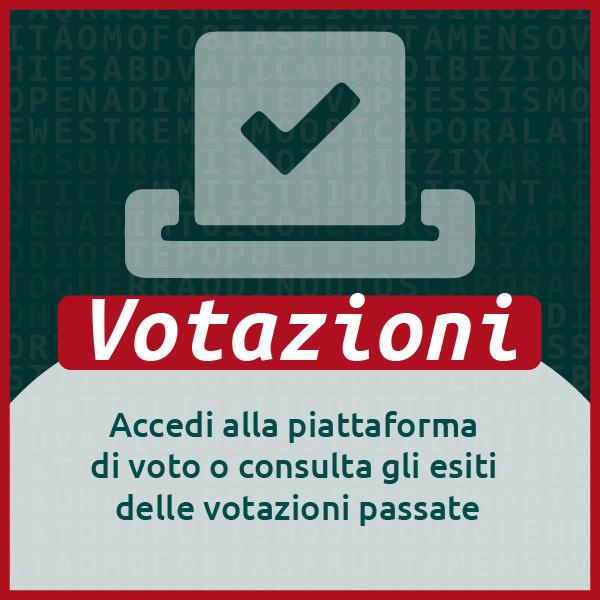 Votazioni - Accedi alla piattaforma di voto o consulta gli esiti delle votazioni passate
